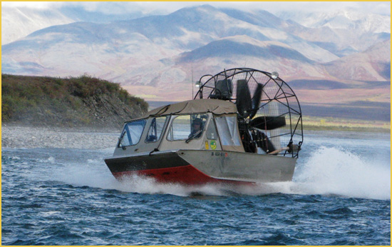 Airboats: The only way to travel on the rivers of Alaska!